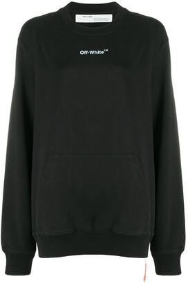 Off-White ARROW SKETCH REGULAR CREWNECK BLACK WHIT
