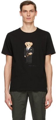 Ralph Lauren Purple Label Black Bear Jersey T-Shirt