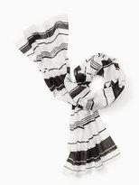 Kate Spade Berber stripe oblong scarf