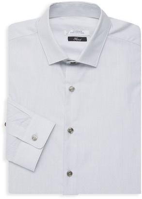 Versace Trend Fit Diamond Print Dress Shirt