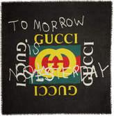 Gucci Black Tomorrow Logo Shawl
