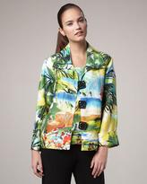 Caroline Rose Island-Print Boxy Jacket