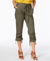 INC International Concepts Curvy-Fit Cropped Cargo Pants, Created for Macy's