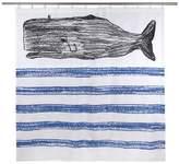 Thomas Paul Whale Sketch Shower Curtain