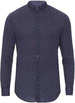 Giorgio Armani Geometric-print linen shirt