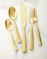 Fortessa 20-Piece Lucca Brushed Golden Flatware Service