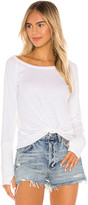 Chaser Knot Front Long Sleeve Thumbhole Cuff Tee