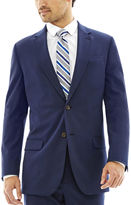 Jf J.Ferrar JF Bright Blue Stretch Suit Pants - Classic