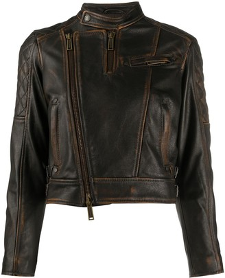 DSQUARED2 Faded Biker Jacket