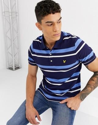 Lyle & Scott stripe polo shirt-Navy