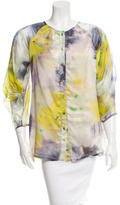 Lela Rose Silk Printed Top