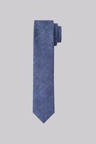 Moss Bros Premium Blue Paisley Silk Skinny Tie