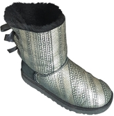 UGG Silver Leather Ankle boots