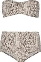 Norma Kamali Sunglass snake-print bandeau bikini
