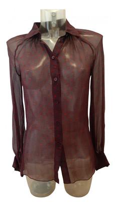 Celine Burgundy Silk Tops