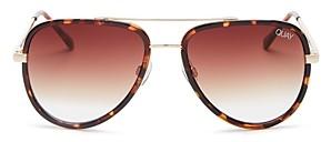 Quay Women's All In Mini Brow Bar Aviator Sunglasses, 59mm