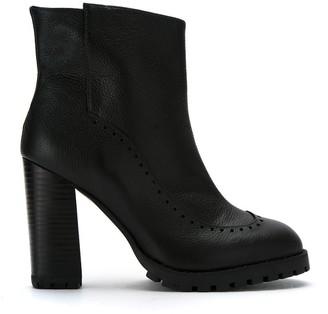 Sarah Chofakian Block Heel Leather Boots