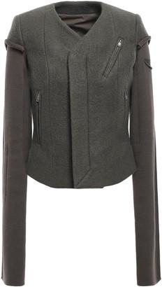Rick Owens Paneled Wool-felt Jacket