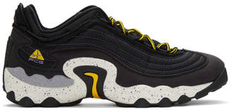 Nike Black and Yellow ACG Air Skarn Sneakers