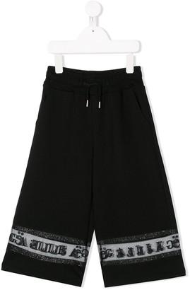 Gaelle Paris Kids Sheer Logo-Stripe Track Pants