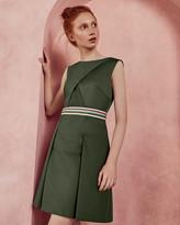 Ted Baker Striped detail sleeveless dress