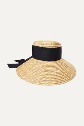 Eugenia Kim Annabelle Grosgrain-trimmed Straw Hat - Beige