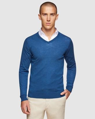 Oxford V-neck Pure Merino Wool Pullover
