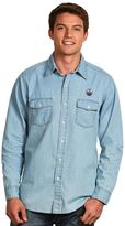 Antigua Men's Edmonton Oilers Chambray Button-Down Shirt