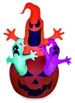 Bed Bath & Beyond Airblown® Inflatable Outdoor Pumpkin Jack Neon Ghost Trio