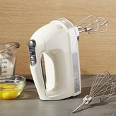Crate & Barrel KitchenAid ® Almond Cream 7-Speed Hand Mixer
