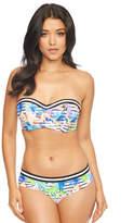 Figleaves Bermuda Stripe Underwired Bandeau Bikini Top