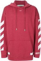 Off-White diagonal stripe hoodie - men - Cotton - XS