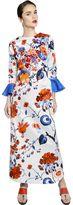 Antonio Marras Embellished Printed Cotton Satin Dress