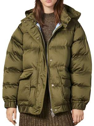 Sandro Sean Quilted Hooded Puffer Coat