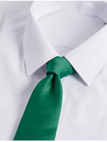 M&S Collection Pure Silk Satin Twill Textured Tie