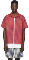 Solid And Striped Solid and Striped Red and Purple Squiggle The Cabana Shirt