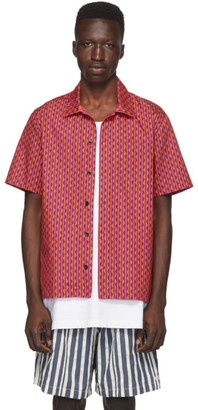 Solid and Striped Red and Purple Squiggle The Cabana Shirt