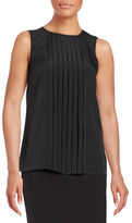 MICHAEL Michael Kors Pleated Front Panel Top