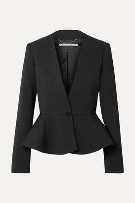 Stella McCartney Wool-blend Peplum Blazer - Black