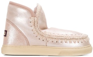 Mou Knitted Detail Sneaker Boots