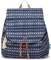 Toms Navy Batik Stripe Textile Poet Backpack