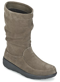 FitFlop LOAF SLOUCHY KNEE BOOT SUEDE women's Mid Boots in Brown