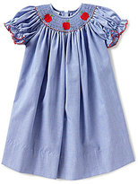 Edgehill Collection Little Girls 2T-4T Smocked Apple Dress