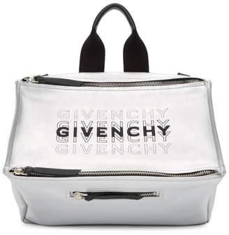 Givenchy Silver Pandora Messenger Bag