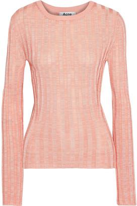 Acne Studios Sitha Melange Ribbed-knit Top