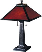 Dale Tiffany Lamps TT100174 Mica Camelot Table Lamp, Mica Bronze and Mica Shade