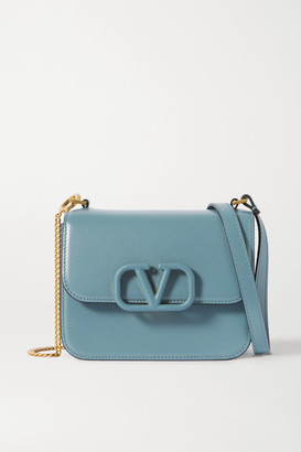 Valentino Garavani Vsling Small Leather Shoulder Bag - Blue
