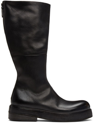 Marsèll Black Zuccolona Zip-Up Boots
