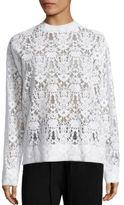 DKNY Floral Lace Pullover