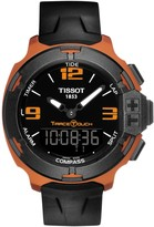 Tissot Men's T-Race Touch Aluminum Tactile Silicone Strap Watch, 42.15mm